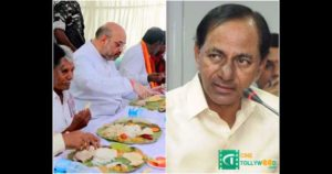 KCR Exposes Politics of Amit Shah Dalit Lunch