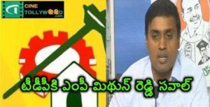 MP Mithun Reddy's challenge to TDP   cinetollywood.com