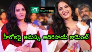 Anushka Sensational comment on Heros