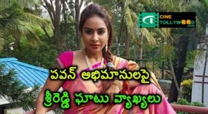 Sri Reddy's comments on Pawan fans