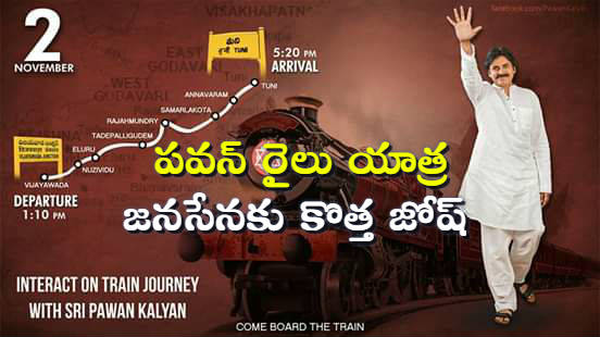 Pawan Kalyan train journey new Josh for Janasena